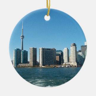 CNTower CN+Tower Toronto lake Ontario Landmark fun Christmas Ornament
