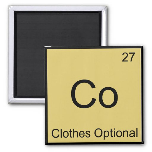 Co - Clothes Optional Chemistry Element Symbol Tee Fridge Magnet