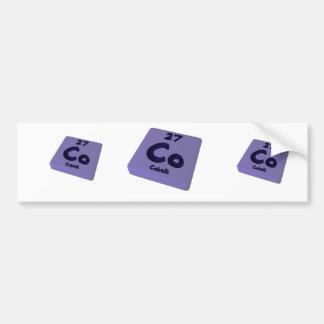 Co Cobalt Bumper Sticker