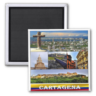 CO - Colombia - Cartagena Mosaic - Collage Magnet