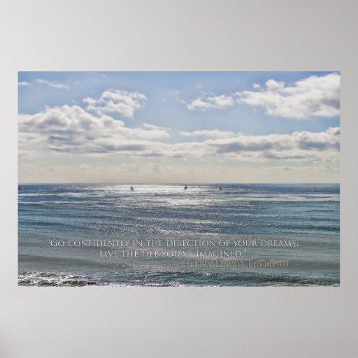 Co Confidently - Sailboats on Ocean Poster