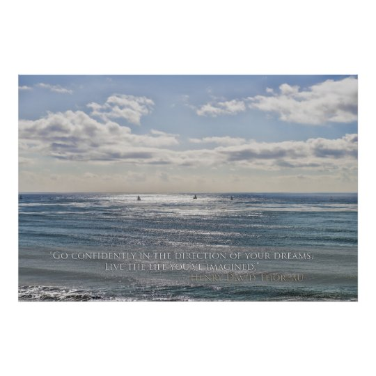 Co Confidently - Sailboats on Ocean Poster