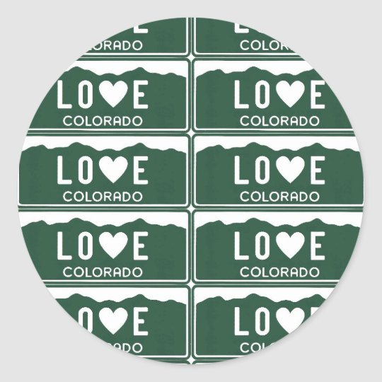 co love pattern - Customised Classic Round Sticker