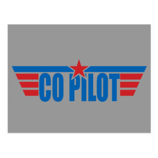 Co-Pilot Wings Badge - Aviation Post Cards