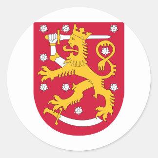CoA of Finland Classic Round Sticker