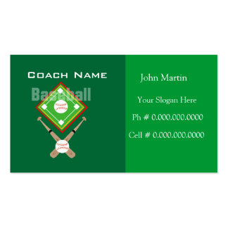 Coach Baseball Pack Of Standard Business Cards