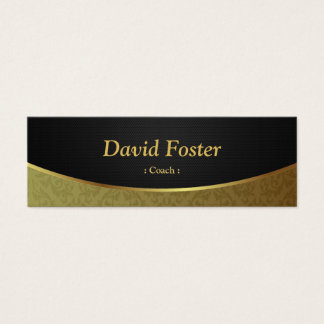 Coach - Black Gold Damask Mini Business Card