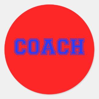 Coach Blue Font Classic Round Sticker