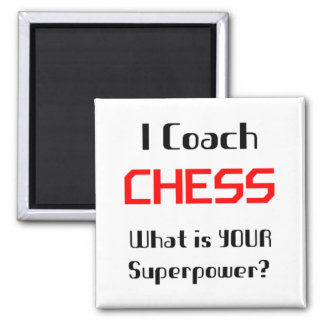 Coach chess square magnet