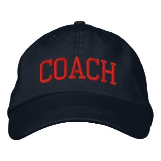 COACH EMBROIDERED BASEBALL CAP