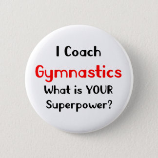 Coach gymnastics 6 cm round badge