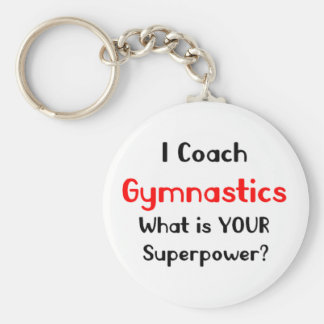 Coach gymnastics basic round button key ring