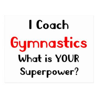 Coach gymnastics postcard