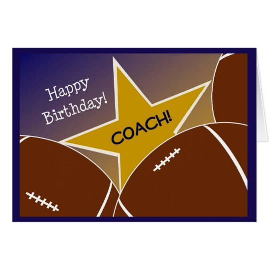 Coach - Happy Birthday Football Loving Coach Card