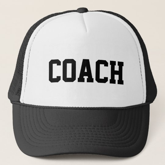 Coach hat for sports teams | customisable colours