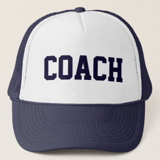 Coach Navy Blue Trucker Hat