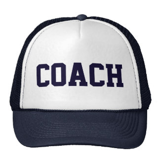Coach Navy Blue Trucker Hat