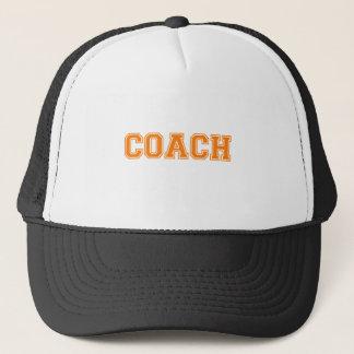 Coach Orange Font Trucker Hat