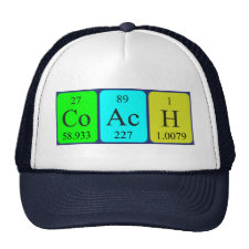 Periodic table Coach hat