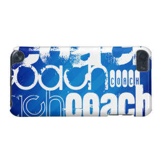 Coach; Royal Blue Stripes iPod Touch (5th Generation) Case