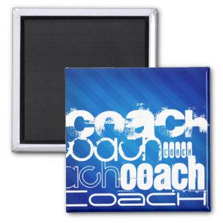 Coach; Royal Blue Stripes Magnet