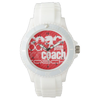 Coach; Scarlet Red Stripes Watch