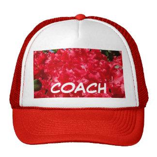 COACH sports hat Red Rhodies Flowers