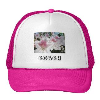 COACH sports hats Pink White Azalea Flowers