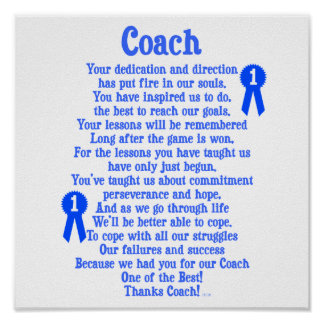 Coach Thank You Poster