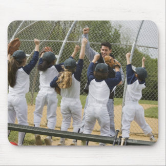 Coach with baseball team mouse mat