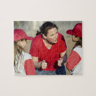 Coach with little league players jigsaw puzzle