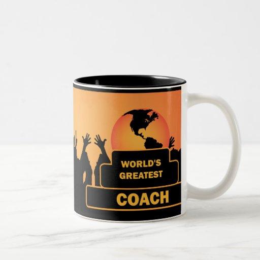 Coach Worlds Greatest Cheers Award Gold Mug