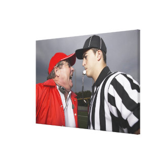 Coach Yelling at Referee Canvas Print