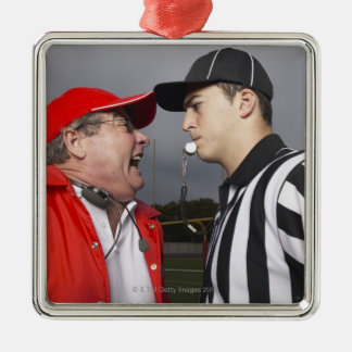 Coach Yelling at Referee Christmas Ornament