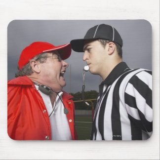 Coach Yelling at Referee Mouse Pad