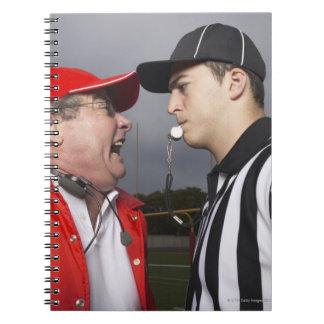 Coach Yelling at Referee Notebooks