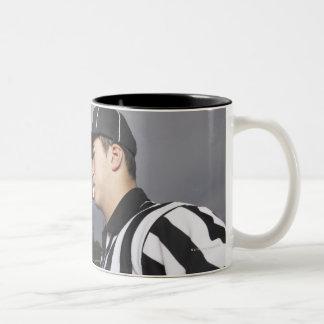 Coach Yelling at Referee Two-Tone Coffee Mug