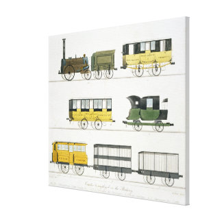 Coaches Employed on the Railway, plate 7 from 'Liv Canvas Print