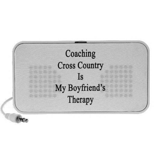 Coaching Cross Country Is My Boyfriend's Therapy iPhone Speakers