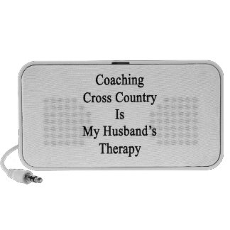 Coaching Cross Country Is My Husband's Therapy Notebook Speakers