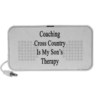 Coaching Cross Country Is My Son's Therapy Mp3 Speakers