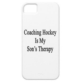 Coaching Hockey Is My Son's Therapy iPhone 5 Cases