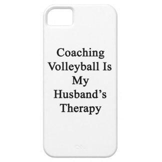 Coaching Volleyball Is My Husband s Therapy iPhone 5/5S Cases