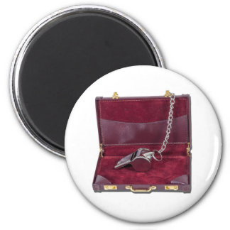 CoachWhistleBriefcase081212.png 6 Cm Round Magnet