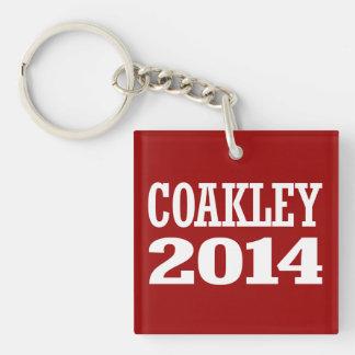 COAKLEY 2014 Double-Sided SQUARE ACRYLIC KEYCHAIN