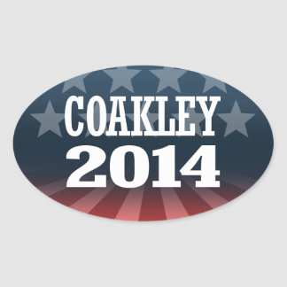 COAKLEY 2014 OVAL STICKER