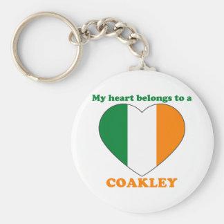 Coakley Basic Round Button Key Ring