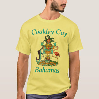 Coakley Cay, Bahamas with Coat of Arms T-Shirt