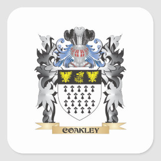Coakley Coat of Arms - Family Crest Square Sticker