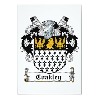 Coakley Family Crest 13 Cm X 18 Cm Invitation Card